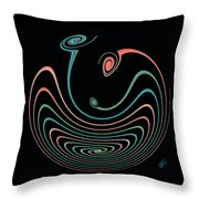 Springy Square Throw Pillow by Ben and Raisa Gertsberg