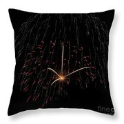 Sprinkled With Red Throw Pillow
