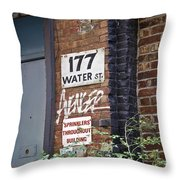 Sprinklers Throughout Building Throw Pillow