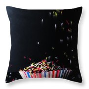 Sprinkles On Cup Cakes Throw Pillow