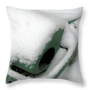 Sprinkling Can In The Snow Throw Pillow