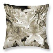Sprint Flowers B/w 1 Throw Pillow