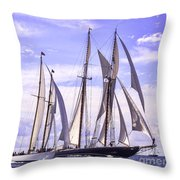 Sprinting Toward The Finish Throw Pillow