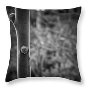 Sprouting Buds Throw Pillow