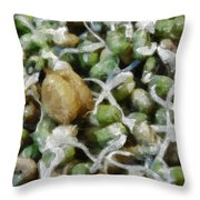 Sprouts And Other Healthy Food Throw Pillow