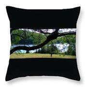 Spruce Knob Silhouette Throw Pillow