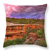 Spruce Tree House At Mesa Verde National Park - Colorado Throw Pillow