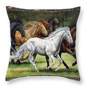Spunky And The Gang Throw Pillow