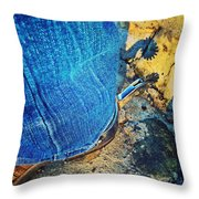 Spur Shadow On Stone Throw Pillow