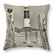 Spurn Lighthouse Throw Pillow