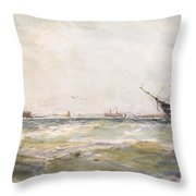 Squally Weather, Portsmouth Throw Pillow