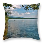 Squam Lake In New Hampshire   Throw Pillow