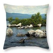 Squam Lake, New Hampshire Throw Pillow
