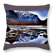 Squamish River Throw Pillow