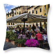 Square Amphitheater In Lucca Italy Throw Pillow