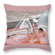 Square Bow Resorter Throw Pillow