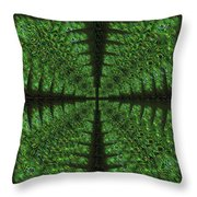 Square Crop Circles Four Throw Pillow