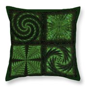 Square Crop Circles Quad Throw Pillow