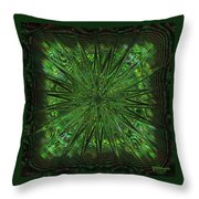 Square Crop Circles Three Throw Pillow