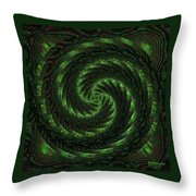 Square Crop Circles Two Throw Pillow