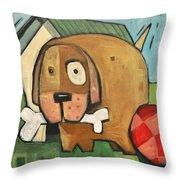 Square Dog Throw Pillow