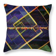 Square Fractals Throw Pillow
