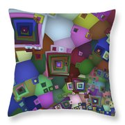 Square Man Throw Pillow