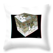 Square Meal - Use Red-cyan 3d Glasses Throw Pillow