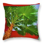 Square Palm Throw Pillow