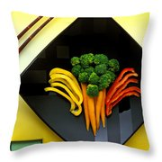 Square Plate Throw Pillow