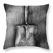 Square Point Shovel Down 3 Throw Pillow