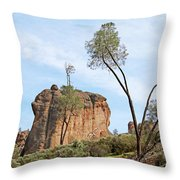 Square Rock Formation Throw Pillow