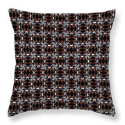 Square Rose Woven Pattern Throw Pillow