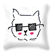 Square Shades Throw Pillow