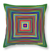 Square Shadings Throw Pillow