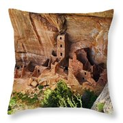Square Tower Overlook - Alcove Dwellers Throw Pillow