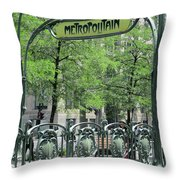 Square Victoria Metro Throw Pillow