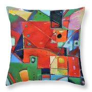 Square With Friends Throw Pillow
