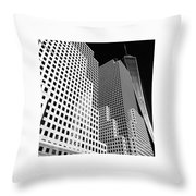 Squared, New York City Throw Pillow