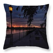 Squarely Into Sunup  Throw Pillow