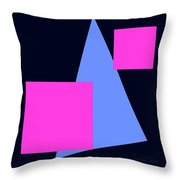 Squares And Triangle Throw Pillow