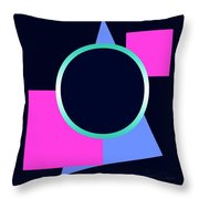 Squares And Triangle Subsumed By Circle Throw Pillow