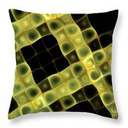 Squares In Abstract Throw Pillow