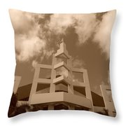 Squares In The Sky Throw Pillow