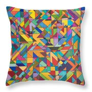 Squark And Lepton Fields Throw Pillow