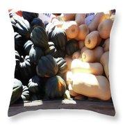 Squash At Market Throw Pillow
