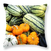 Squash Harvest Throw Pillow
