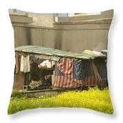 Squatters Homes Throw Pillow