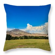 Squaw Butte And Little Butte Throw Pillow