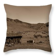 Squaw Butte Homestead Throw Pillow